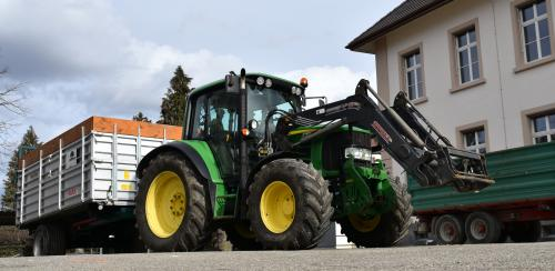 Herzlichen Dank an Urs Schneider für den Traktor